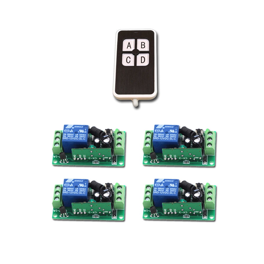 New Type Universal Wireless DC 9V 24V 12V 10A 315/433MHz Remote Control Switch Transmitter with Wireless Remote Control Receiver 660v ui 10a ith 8 terminals rotary cam universal changeover combination switch