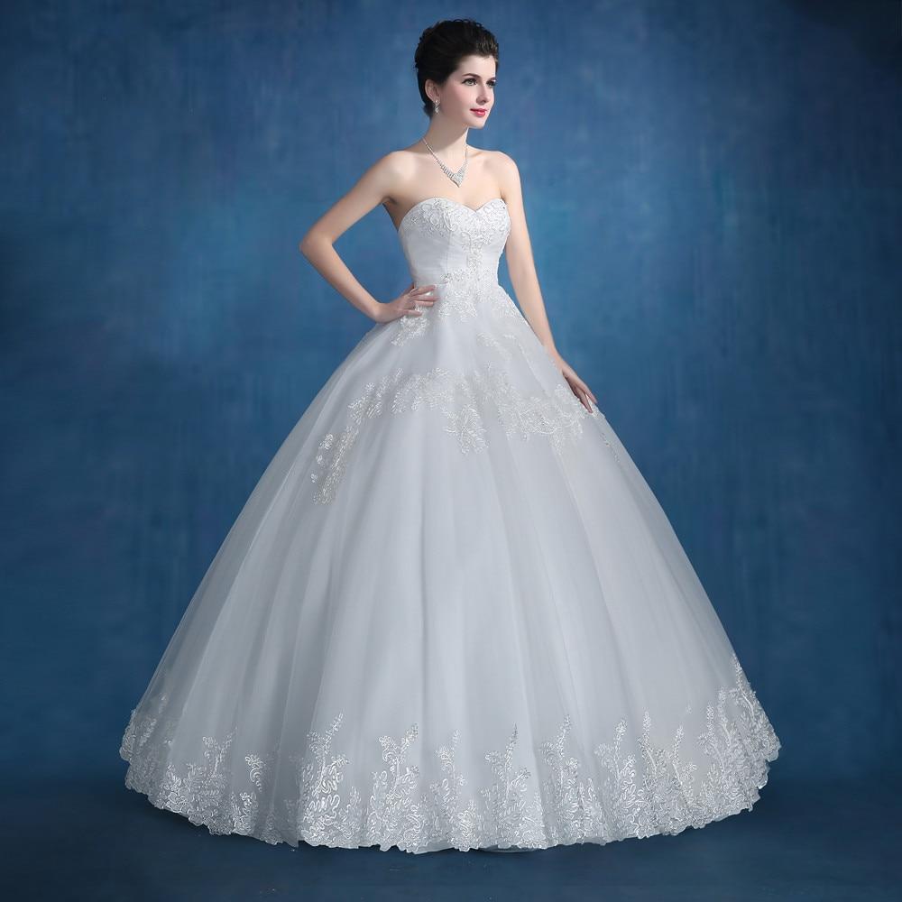 vestido noiva simples Wedding Dress 2017 Hand Beading Crystal ...