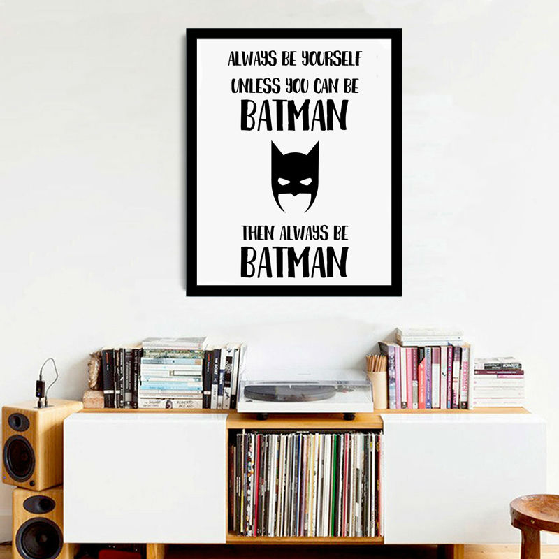 Always be yourself unless you can be superhero wall picture always be yourself unless you can be superhero wall picture inspiration quote canvas painting poster for living room no frame in painting calligraphy from solutioingenieria Gallery