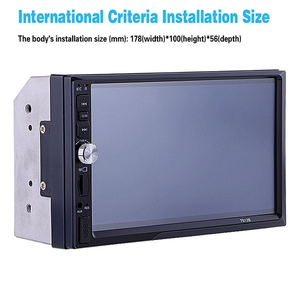 Image 4 - 7012B 7 インチ Bluetooth V2.0 カーオーディオステレオタッチスクリーン MP5 プレーヤーサポート MMC