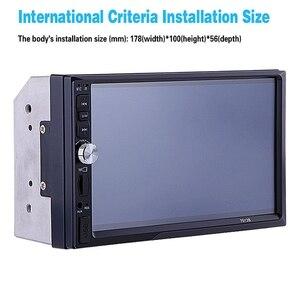 Image 4 - 7012B 7 pouces Bluetooth V2.0 voiture Audio stéréo écran tactile MP5 lecteur Support MMC