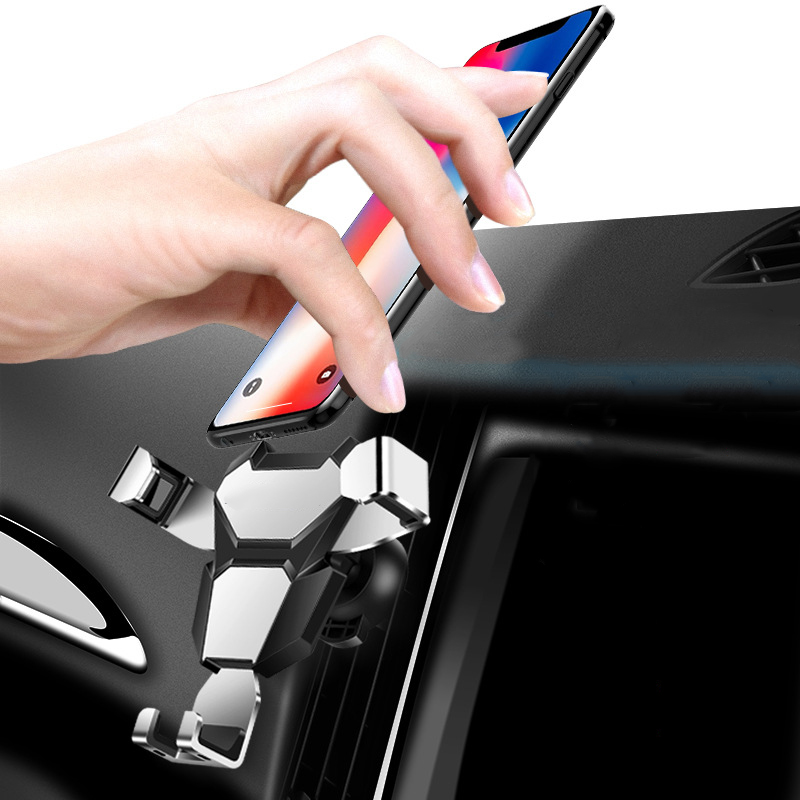 universal car phone clip holder gravity car phone holder air vent mount support cellphone for car mobile holder for iphone X XR in Phone Holders Stands from Cellphones Telecommunications