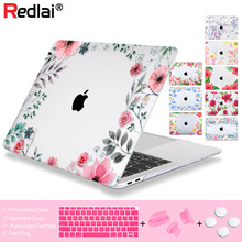 Redlai Case For Macbook New Pro 13 15 w/o Touch bar 2018 Air A1932 Laptop Retina 12 Floral Print Hard