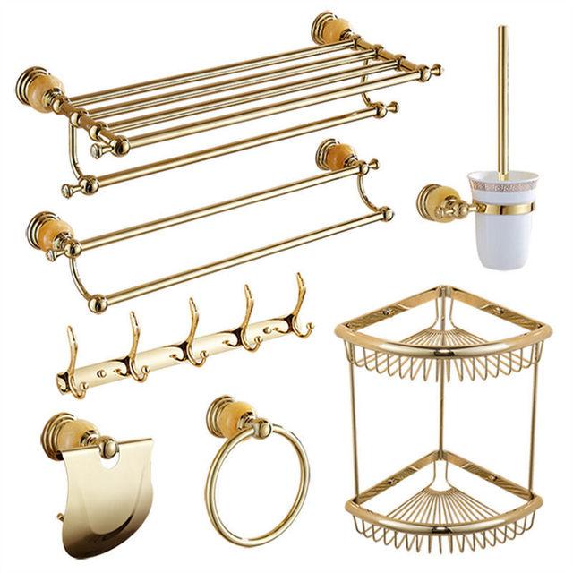 Étagère de salle de bain en acier inoxydable | Accessoires de salle de bain, Jade porte-serviettes, barre à serviette, Robe crochet à savon, étagère de salle de bains, ensemble de matériel de salle de bain