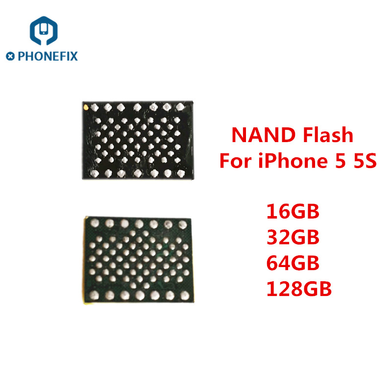 Phone Motherboard Nand Flash Replacement Upgrade Nand Memory IC Chips With Soldering Balls Hard Disk NAND Chip For IPhone 5 5S 6