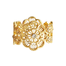 2019 Fashion Girl Personalidad Hollow New Style Cubic Zirconia Lacework Bohemia Party Ring Women Jewelry 3082