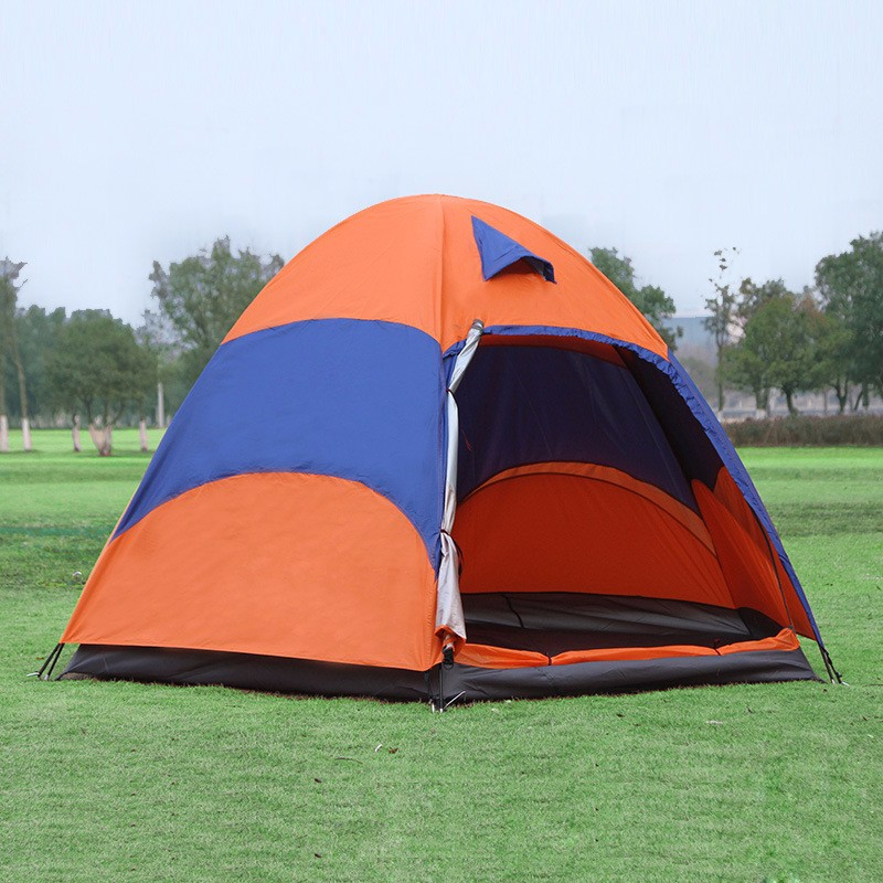 New Outdoor 5-8 Persons Large Tent Sunshade Double Layer Sun Shelter Rainproof Anti-UV Shed Camping Hiking Travel Tent octagonal outdoor camping tent large space family tent 5 8 persons waterproof awning shelter beach party tent double door tents