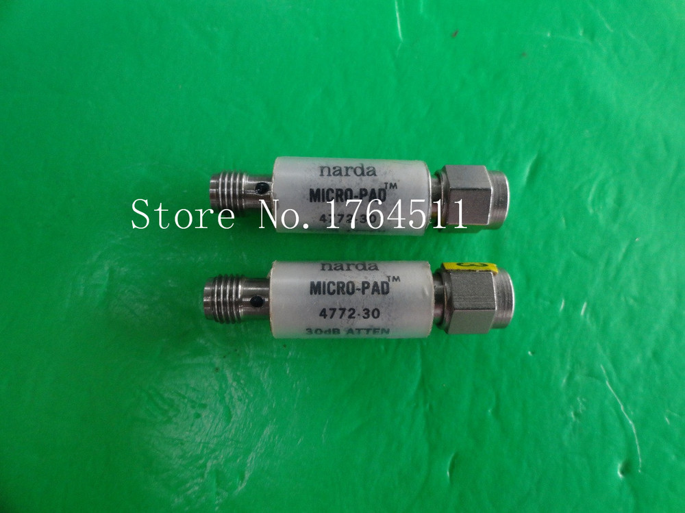 [BELLA] NARDA 4772-30 DC-6GHz 30dB 2W SMA Coaxial Fixed Attenuator  --3PCS/LOT