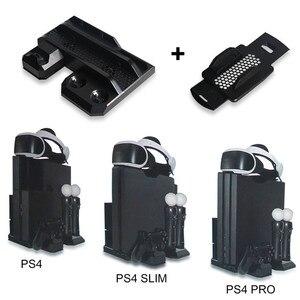 Image 3 - Многофункциональная Вертикальная охлаждающая подставка для консоли PS4 Pro/PS4 Slim/PS4 PS Move, контроллер PS4, зарядная станция, VR Держатель Витрины