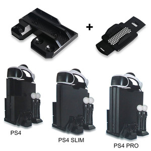 Image 3 - Multifunctional Vertical Console Cooling Stand PS4 Pro/PS4 Slim/PS4 PS Move PS4 Controller Charger Station VR Showcase Holder