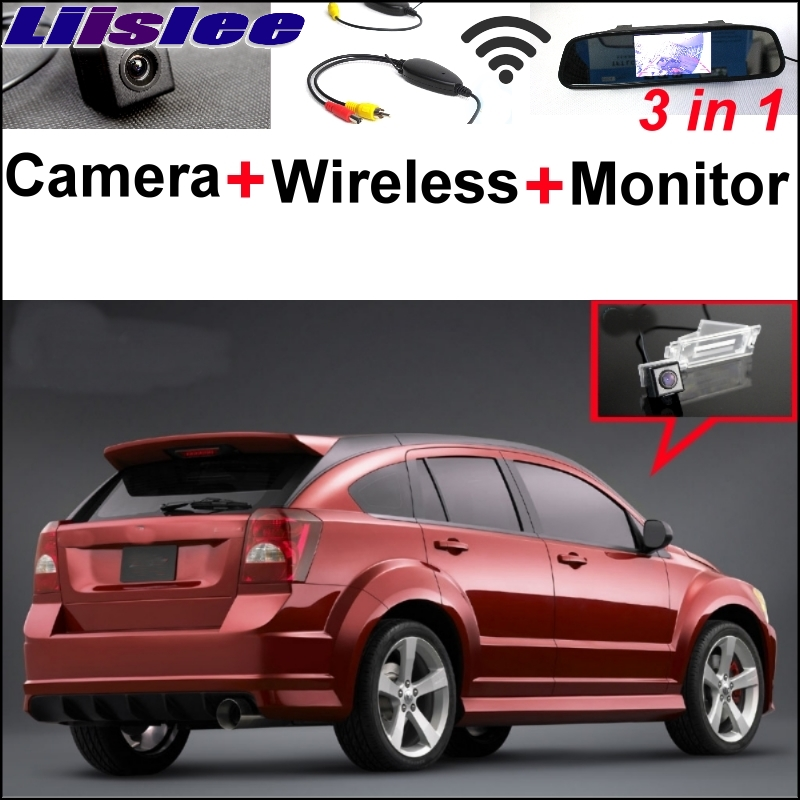 Liislee Mirror Monitor EASY Backup Parking System For Dodge Caliber 2007~2017 Special Rear View Camera + Wireless Receiver liislee 3in1 special rear view camera wireless receiver mirror monitor easy parking system for lexus ls430 celsior 2001 2017