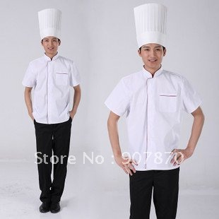 Restaurant Kitchen Uniforms short sleeve white chef coats chef jacket hotel restaurant kitchen