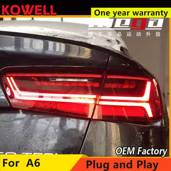 KOWELL car styling For Audi A6 taillights 2012 2013 2014 2015-2018 for A6 rear lights dedicated car light led taillight assembly