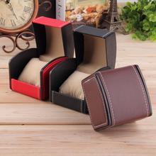 Новая роскошная коробка для часов, чехол для дисплея, подарочные коробки, коробка для часов из натуральной кожи с подушкой, упаковка для часов, браслет, кольцо, серьги