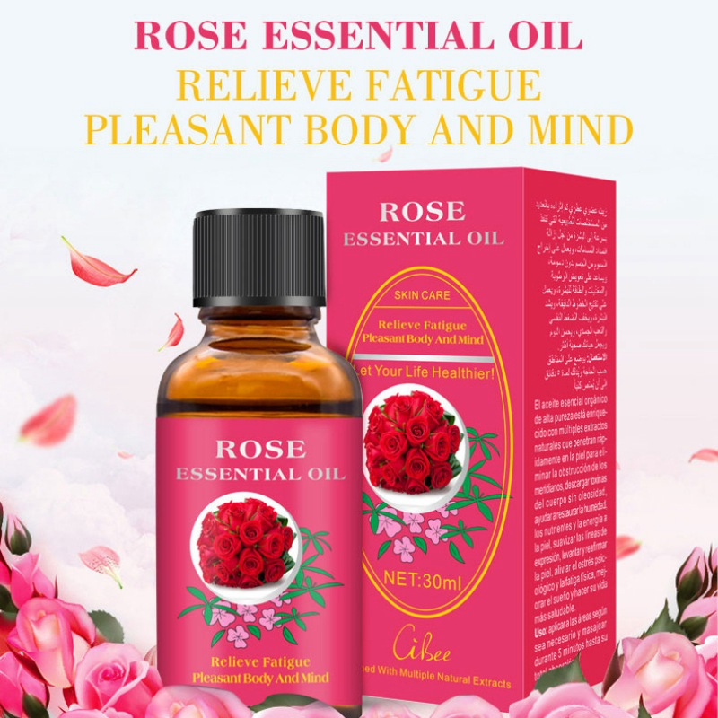 Hot 30ml Rose Massage Essential Oil Natural Plant Therapy Lymphatic Detox Oil Natural Anti-aging Body Or Empty Bottle Tslm1 Essential Oil Beauty & Health