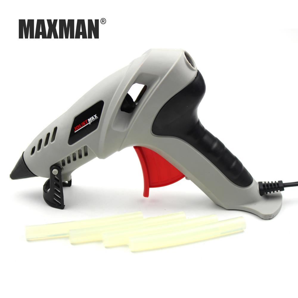 MAXMAN 250W Hot Melt Glue Gun Professional With Glue Stick 10CM Thermoelectric Heat Temperature Tool Hot Silicone Gun