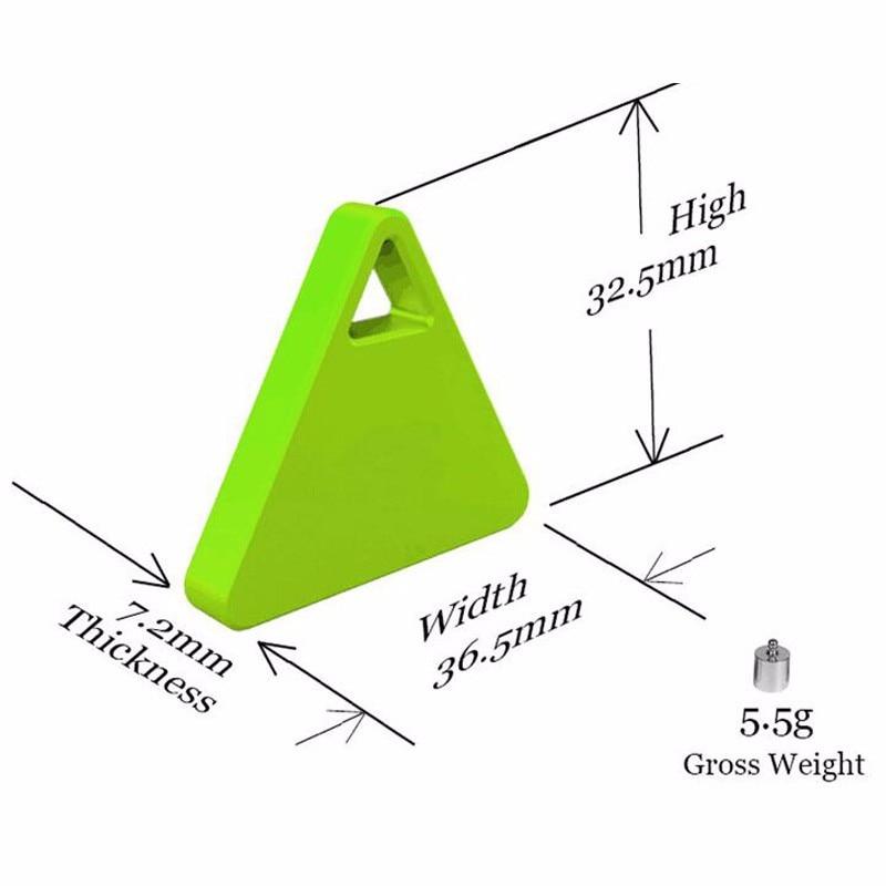 Self-timer Bluetooth triangular untuk menemukan objek gantungan kunci dengan perangkat anti-hilang kecil yang lucu