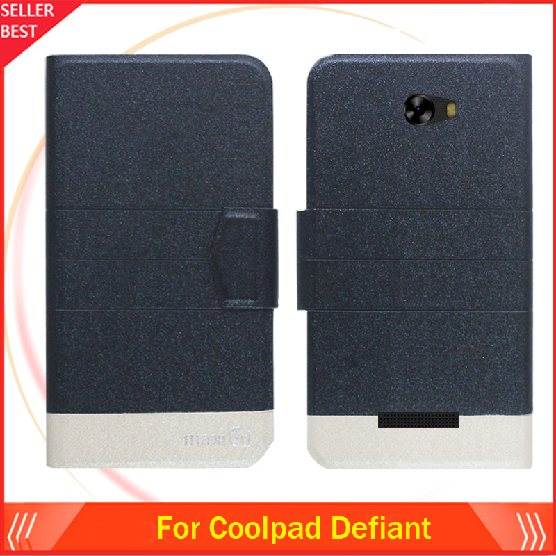 5 Colors Hot!! Coolpad Defiant Case Ultra-thin Flip Fashion Leather Exclusive Phone Cover Folio Book Card Slots Free Shipping