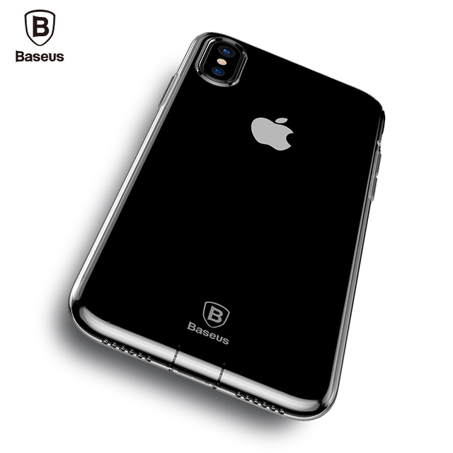 Baseus iPhone X Transparent Dirt-resistant Ultra Thin Soft TPU Silicone Back Case Cover