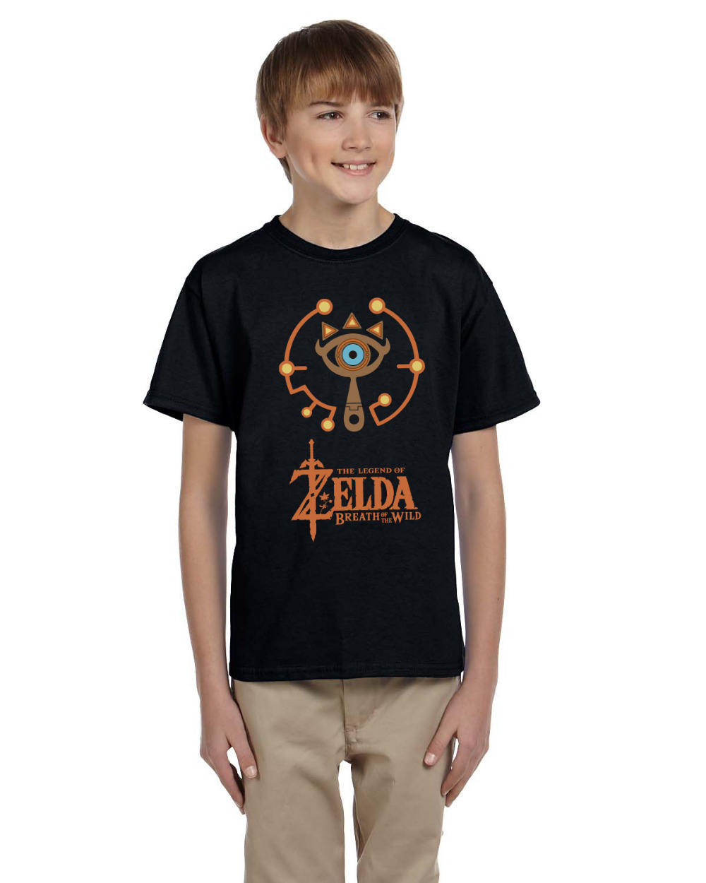 Legend Of Zelda Cosplay T Shirt Only Tops For Kid Zelda Breath of the Wild Hieght For 120CM-150CM Children