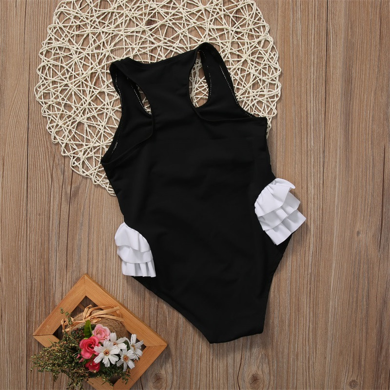 Toddler Kids Baby Girl Swan Bikini Swimwear One-Piece Swimsuit Swimming Costumes 4