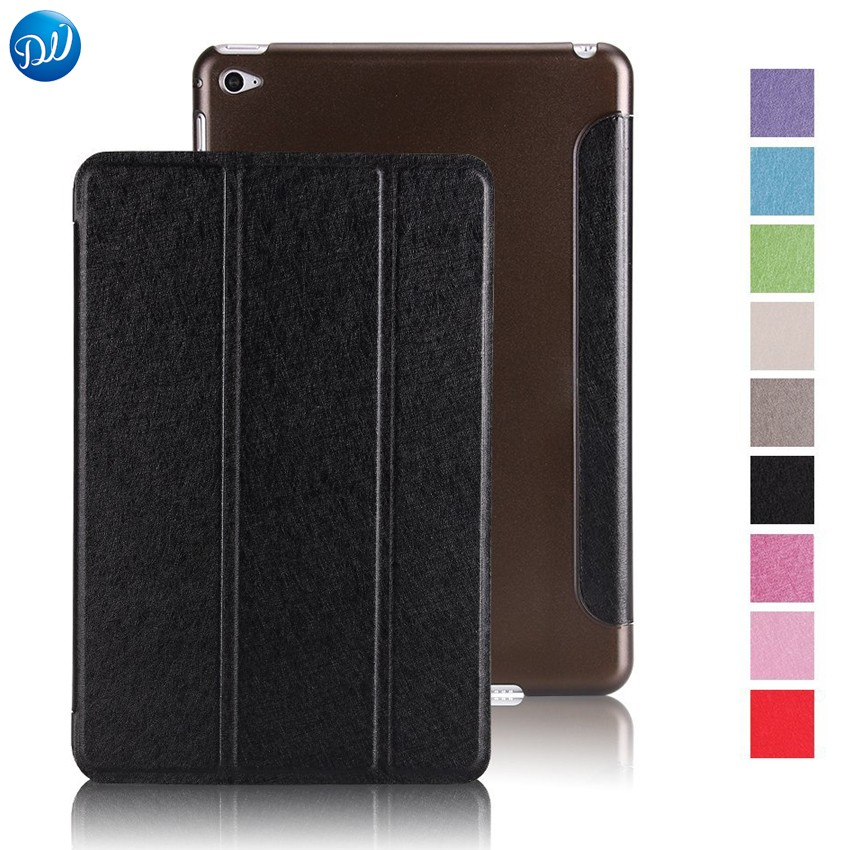 Dwaybox Smart Cover Case for iPad Mini 4 Tablet Case Trifold Stand With Auto Sleep Wake Function Silk PU Leather