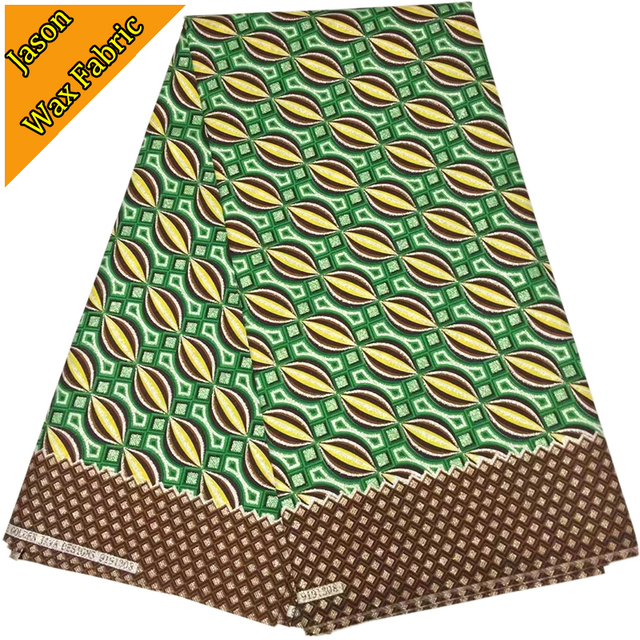 GREEN COLOR BRONZING SUPER JAVA GHANA KENTE PRINT FABRIC 12YARDS AFRICAN WAX PRINTED 100COTTON