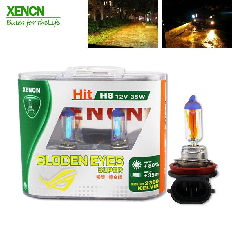 XENCN H8 12V 35W 2300K Golden Eyes Super Yellow Light Germany Quality Halogen Car Bulbs Visibility