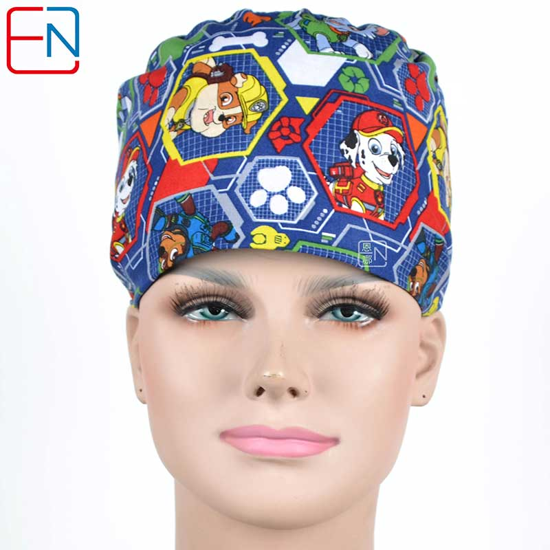 Hennar Women Scrub Caps . Medical Surgical Hospital Clinical Cotton Men Hats Unisex High Quality New Medical Accessories