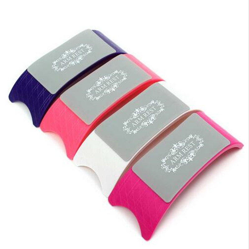 Kunststoff Silikon Nail Art Kissen Kissen Salon Hand Halter Nagel Arm Rest Maniküre Zubehör Werkzeug Komfortable Für Nägel Handauflagen