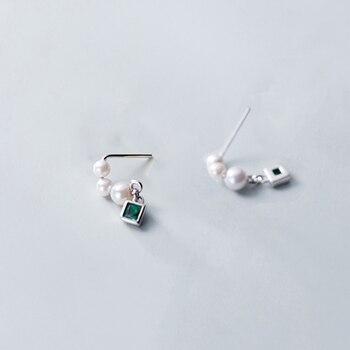INZATT Real 925 Sterling Silver Pearl Tassel Drop Earrings For Elegant Women Wedding Party Cute Fine Jewelry 2019 Accessories 2
