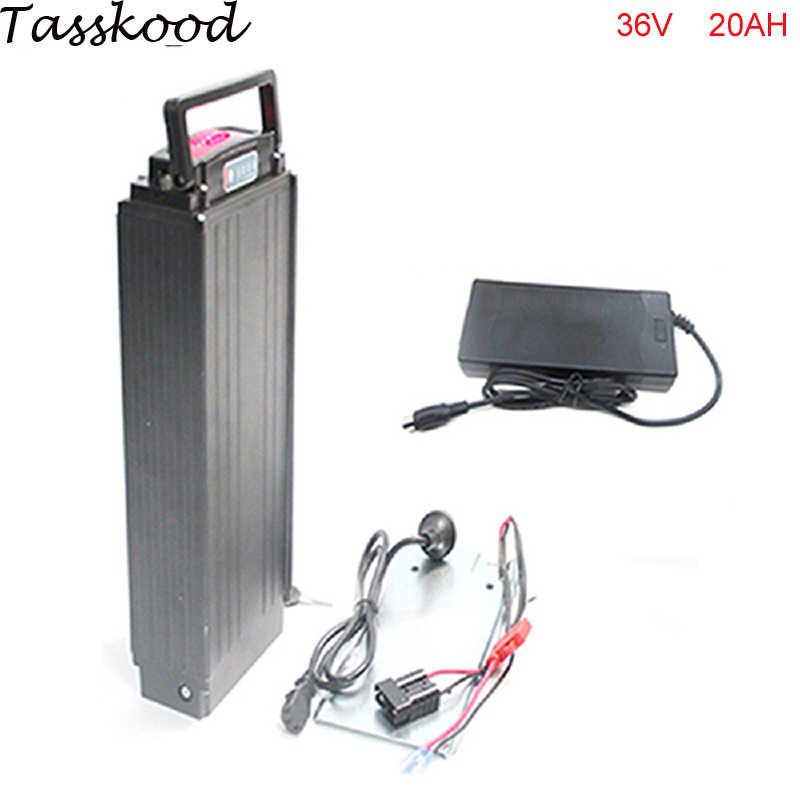 Batería de bicicleta eléctrica 36v 20ah e-bike batería 36v 1000w bafang bbs02 bbs01 batería trasera de litio con cargador