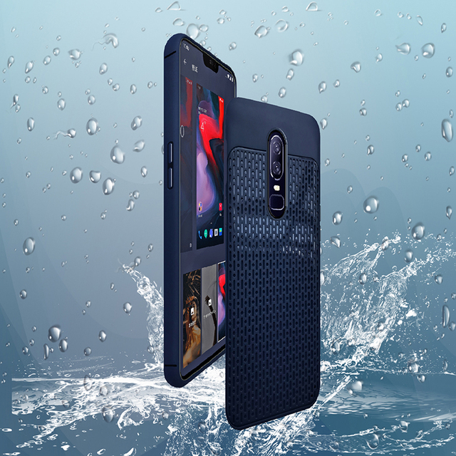 LEPHEE Case for OnePlus 6 Case for One Plus 6 Cover Case Silicone Soft Grid Patterns Back Phone Cases OnePlus6 1+6 Luxury