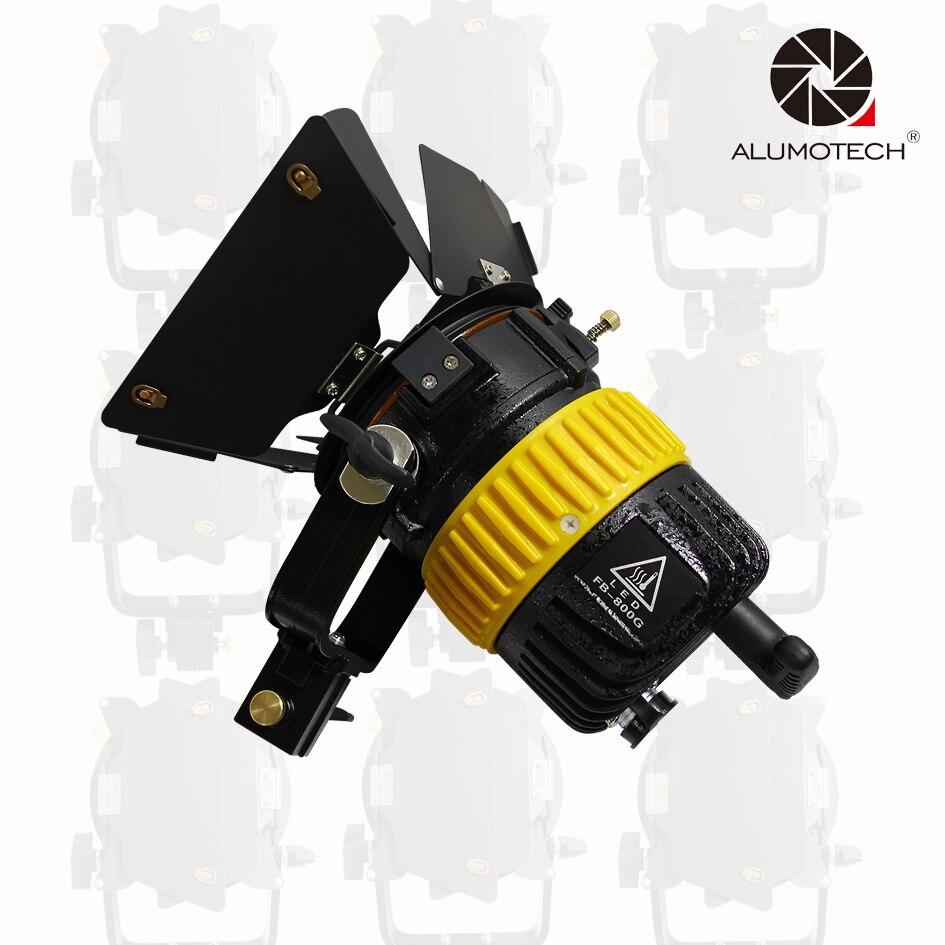 ALUMOTECH Fresnel Lens High CIR 5500 3200K 80W LED Dimming Spotlight With V mount For Camera