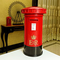 1pcs Retro Mailbox Shape Piggy Bank with LED Night Light Vintage Europe British Lighting Table Lamp luminarias Money Boxes