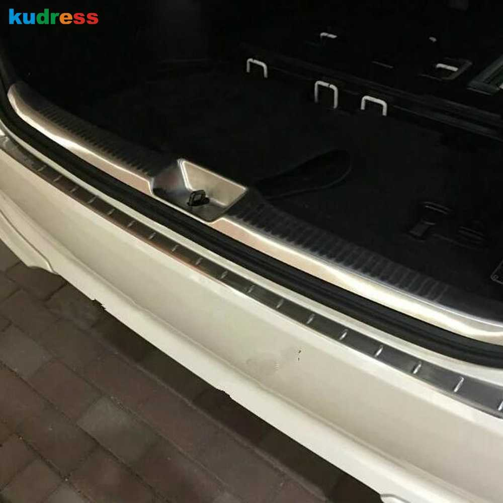 For Toyota Estima Previa Tarago 2016 Steel Inner Outer Rear Bumper Protector Sill Trunk Trim Accessories Car Styling 2pcs/set