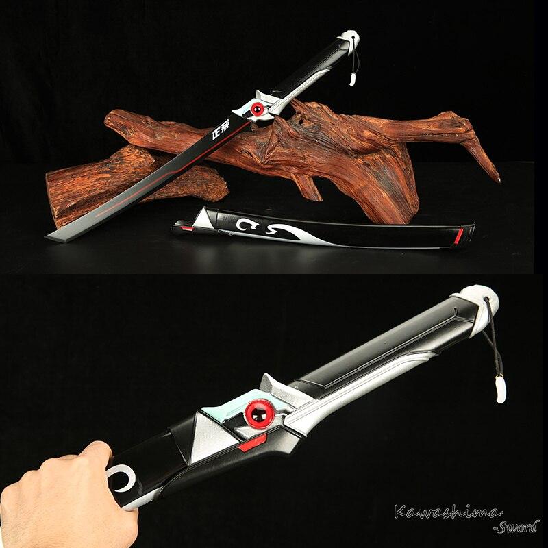 Genji Oni Tanto pro přes Watch Cosplay rekvizity Replika Blade Real Steel Krátký nůž zbrusu nový Supply-No Sharp Dekorativní meč