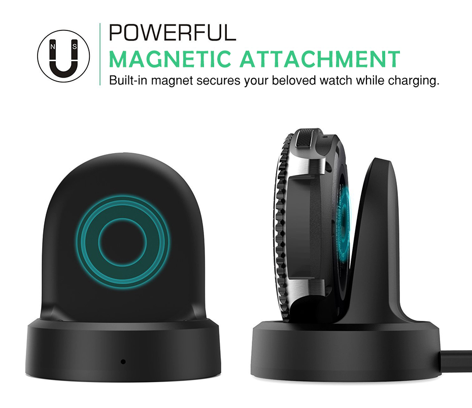 Black Wireless Charging Dock Cradle Charger For Samsung Galaxy Gear Gear S3classic Dock High Quality Charger For Samsung Gear S2 Smart Watch Wireless Charger 005408_05