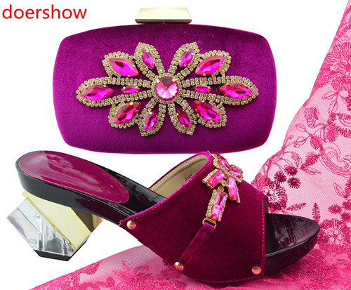 doershow New Arrival Italian Shoe with Matching Bags African Shoe and Bag Set for Party In Women Italian Shoe  with Bag! !HH1-42doershow New Arrival Italian Shoe with Matching Bags African Shoe and Bag Set for Party In Women Italian Shoe  with Bag! !HH1-42