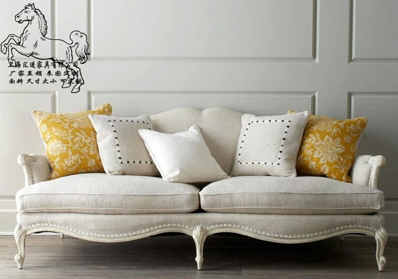 living room Nordic style/American country style antique solid wood fabric  sofa modern sofa-in Living Room Sofas from Furniture on Aliexpress.com |  Alibaba ... - Living Room Nordic Style/American Country Style Antique Solid Wood