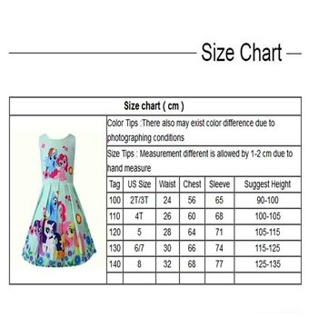 Spring and Summer My Princess Girl Print Dress Rainbow Pony  5