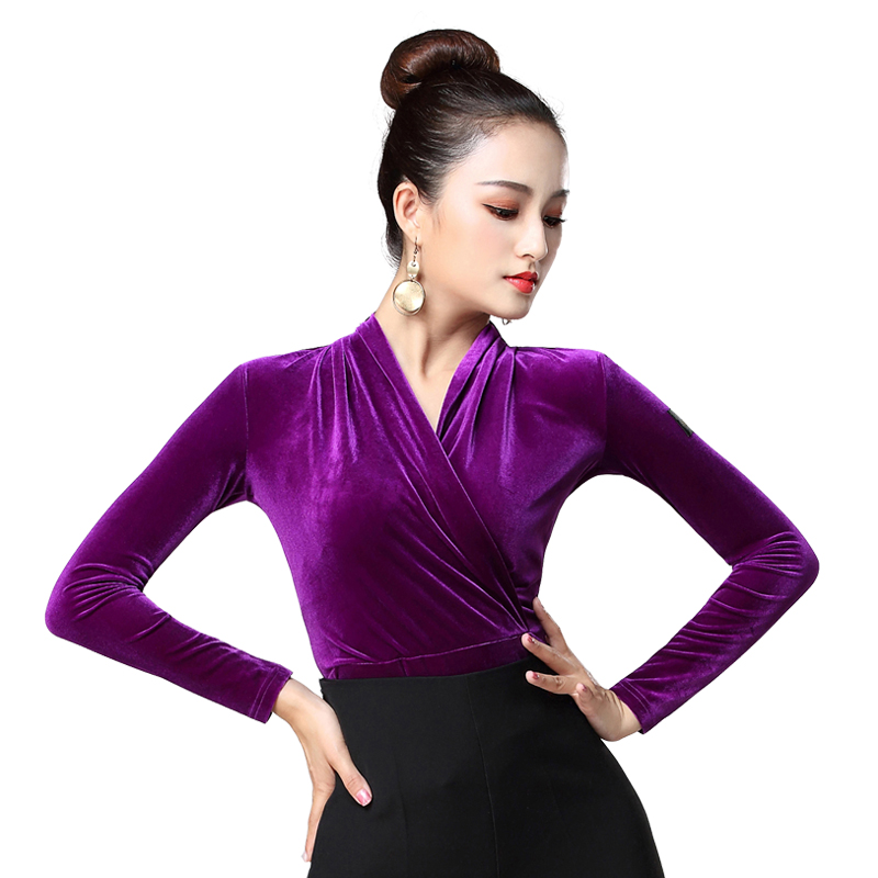 Latin Dance Costumse Sexy Latin Dance Tops For Women Latin Dancing Jacket National Standard Dance Wear S-3XL