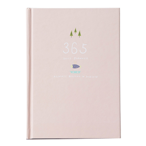 365 days personal diary planner hardcover notebook diary office weekly schedule cute stationery Pink 365 day thick hardcover personal diary