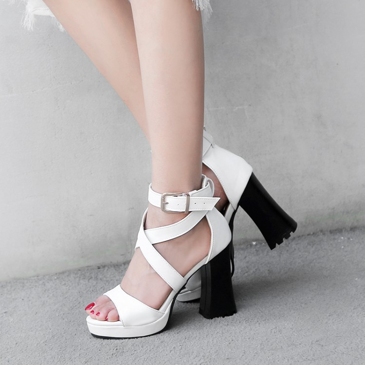 Big Size 11 12 13 14 15 16 17    high heels sandals women shoes woman summer ladies  High-heeled sandals with buckled fishmouthBig Size 11 12 13 14 15 16 17    high heels sandals women shoes woman summer ladies  High-heeled sandals with buckled fishmouth