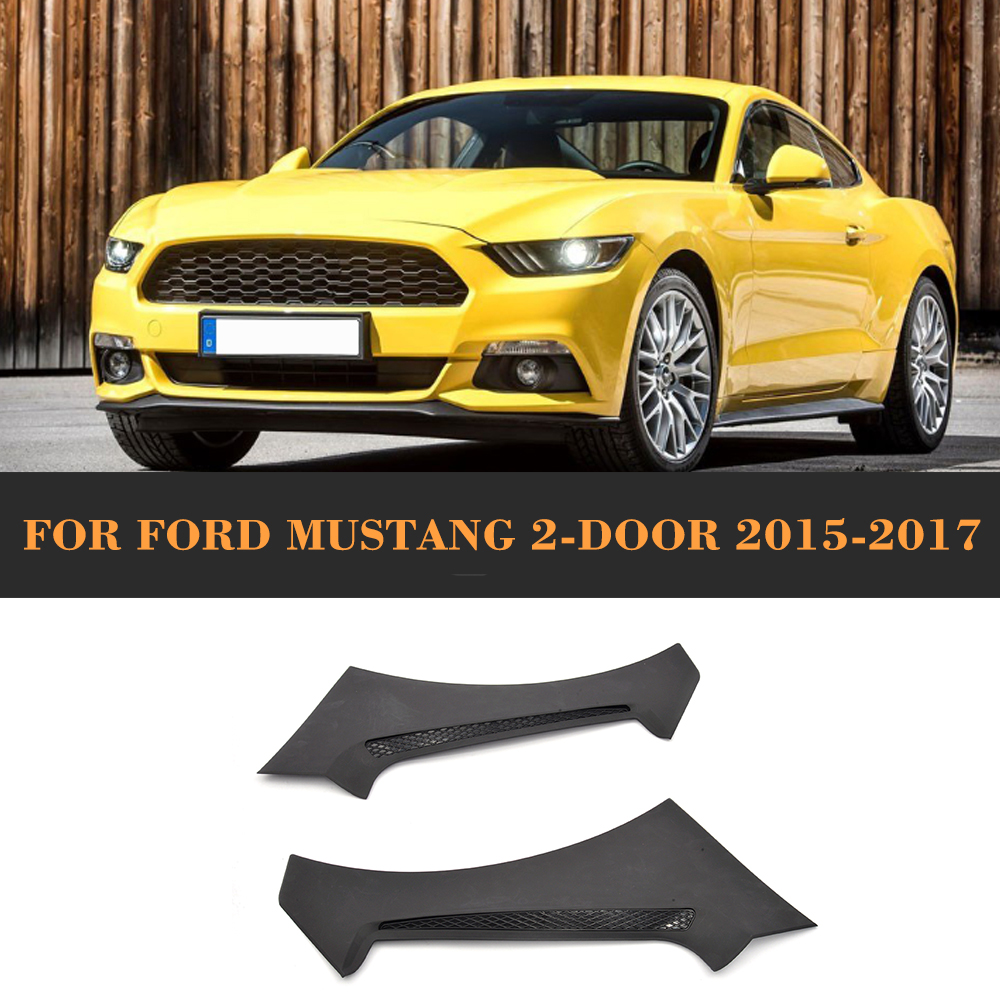 ②Coche frontal Guardabarros TRIM Fender Air Vent para Ford Mustang ...
