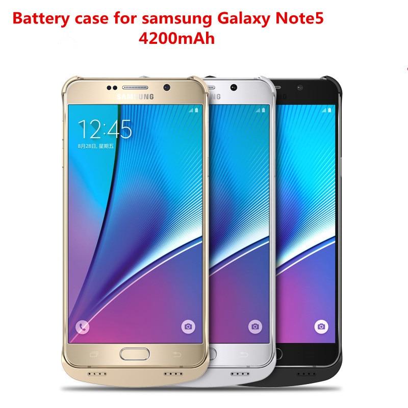 bilder für Für Samsung Galaxy Note 5 Ladegerät Fall 4200 mAh Power Drahtlose Powerbank Externe Batterie 1A Max für Galaxy Note 5