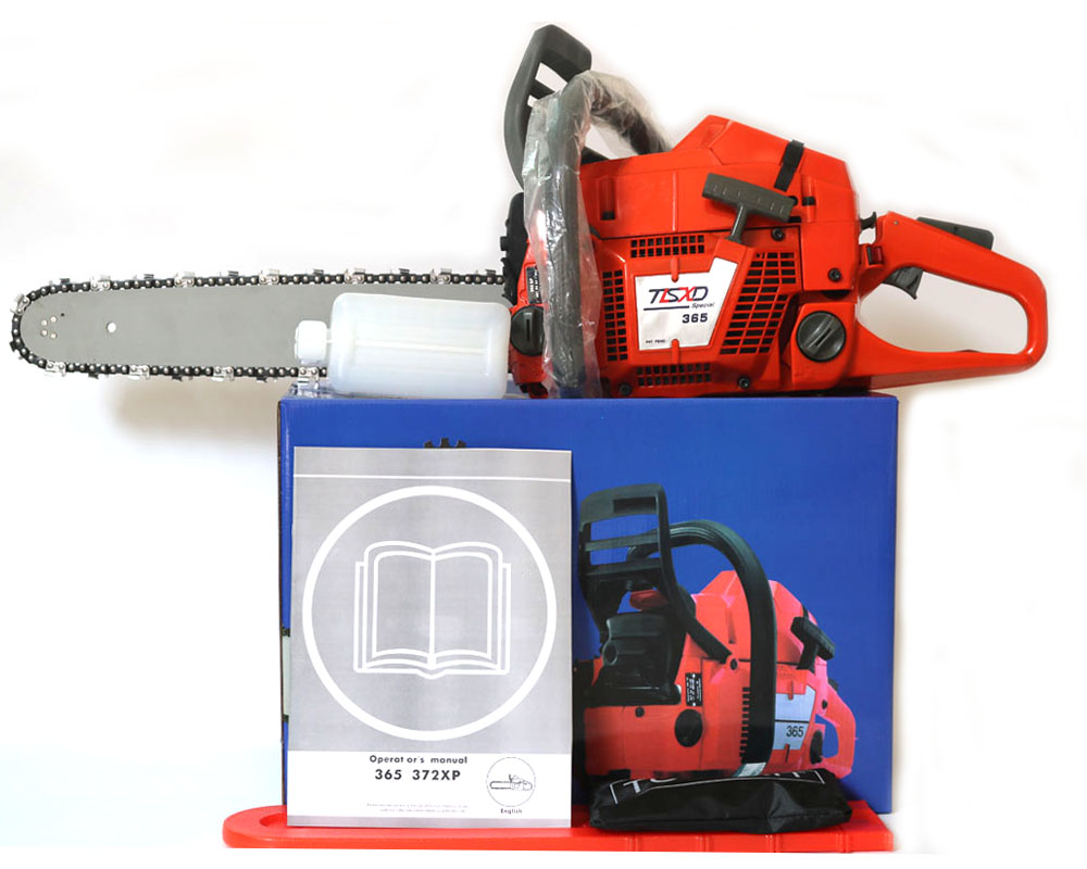 Professional wood cutter chain saw HUS 365 Gasoline CHAINSAW 65CC CHAIN SAW Heavy Duty Chainsaw with