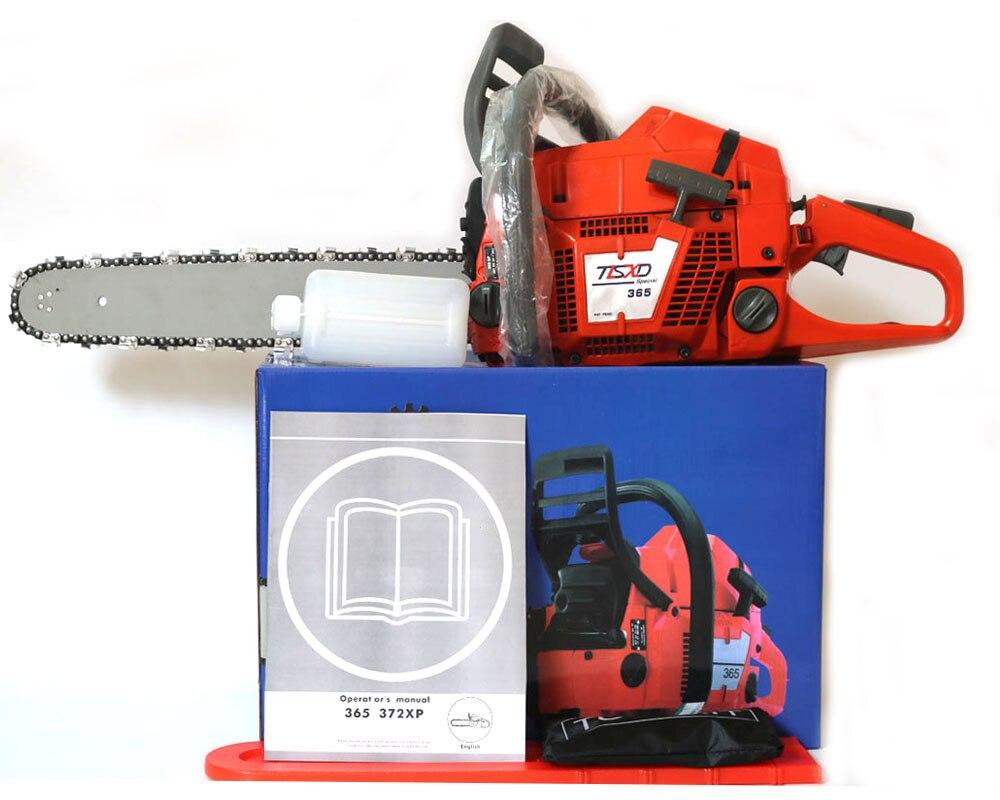 Scie à chaîne professionnelle HUS 365 scie à chaîne à essence, scie à chaîne 65CC, tronçonneuse robuste avec lame de 20