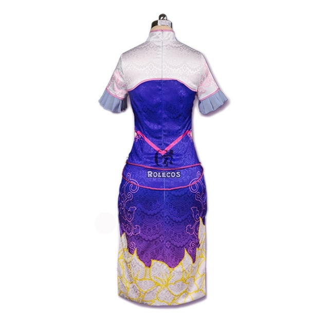 ROLECOS New Over Game Character D.VA Cosplay Costumes DVA Gradient Color Cheongsam Women Costumes Chinese Dress 1