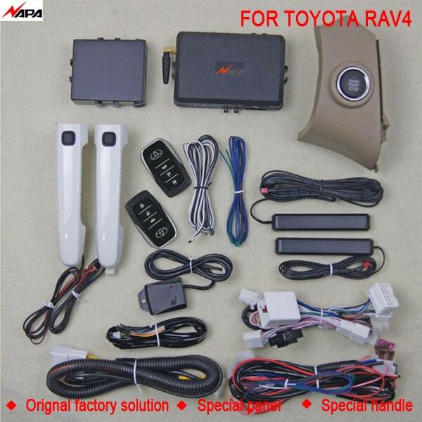 Car auto keyless entry push start with smart handle unlock remote